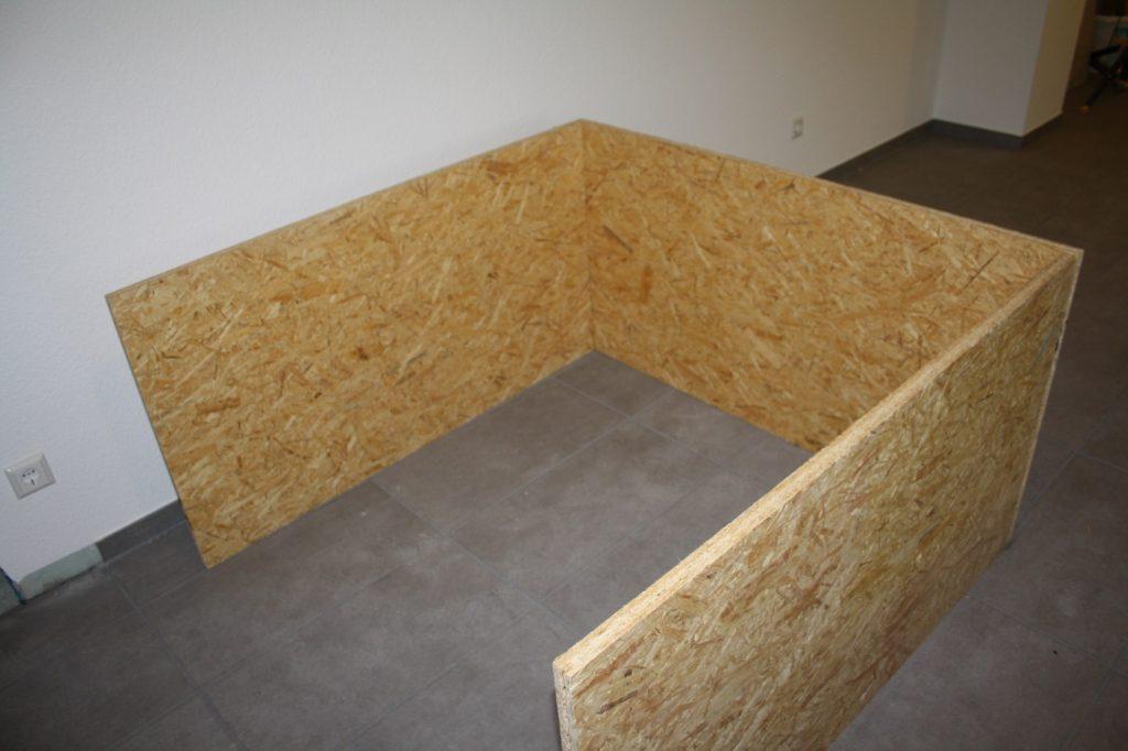 OSB Platten schützen die Wände